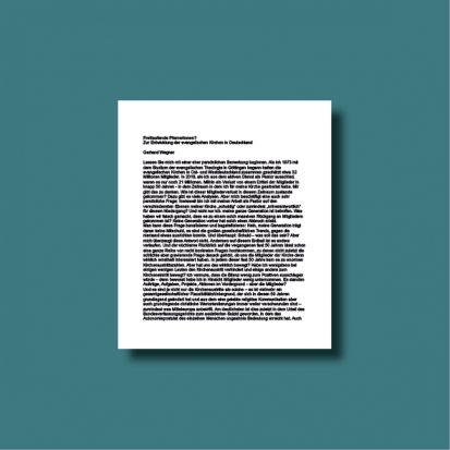 Cover der Niederschrift: Freilaufende Pfarrerinnen